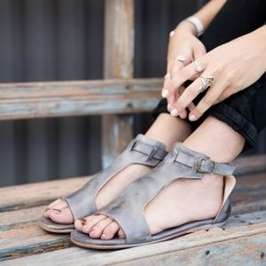 {Bed Stu}Woman's Sz 7 Sable Leather Sandal NIB